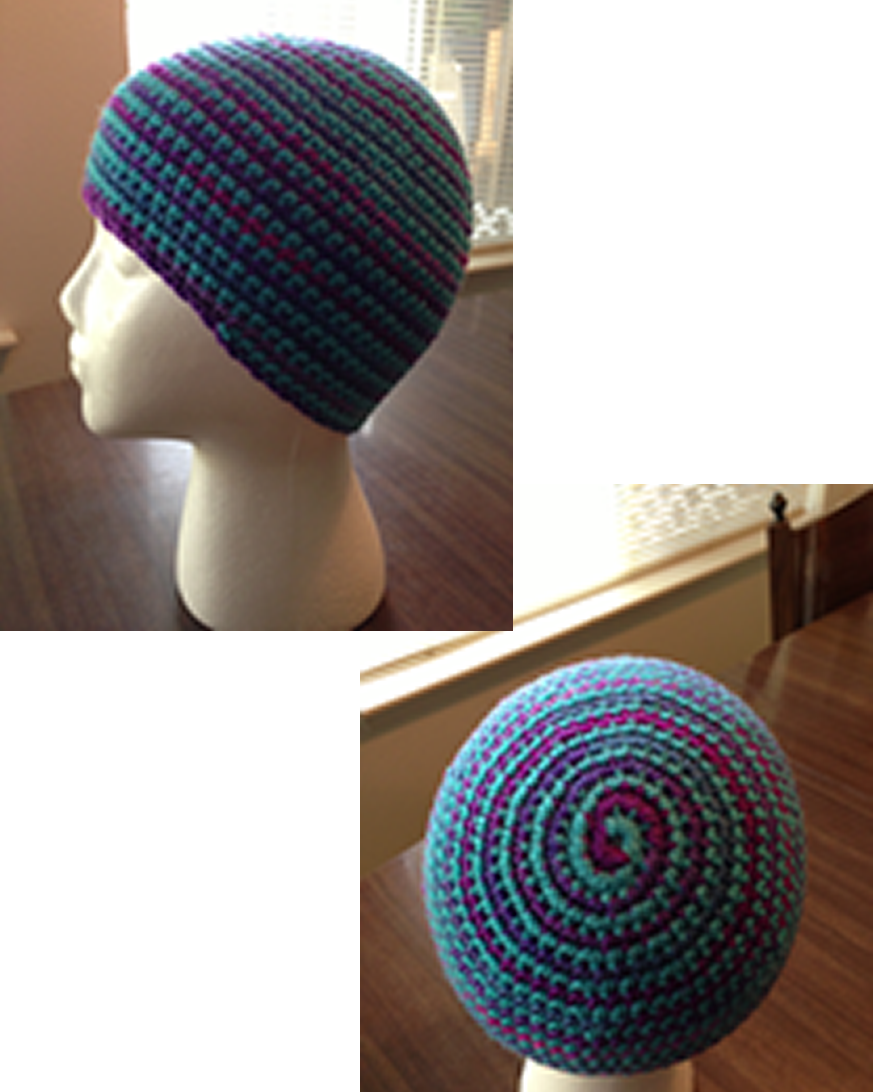 Reversible Two Toned Spiral Beanie Pattern Crochet Utopia